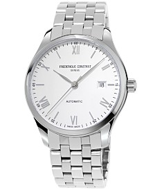 Frederique Constant Men's Swiss Automatic Classic Index Stainless Steel Bracelet Watch 40mm