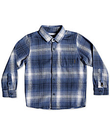 Quiksilver Little Boys Fatherly Plaid Cotton Shirt