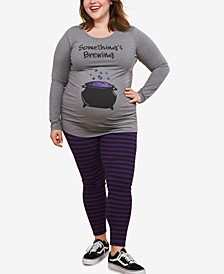 Plus Size Something's Brewing™ Maternity Graphic Tee