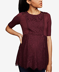 A Pea In The Pod Maternity Lace Peplum Top