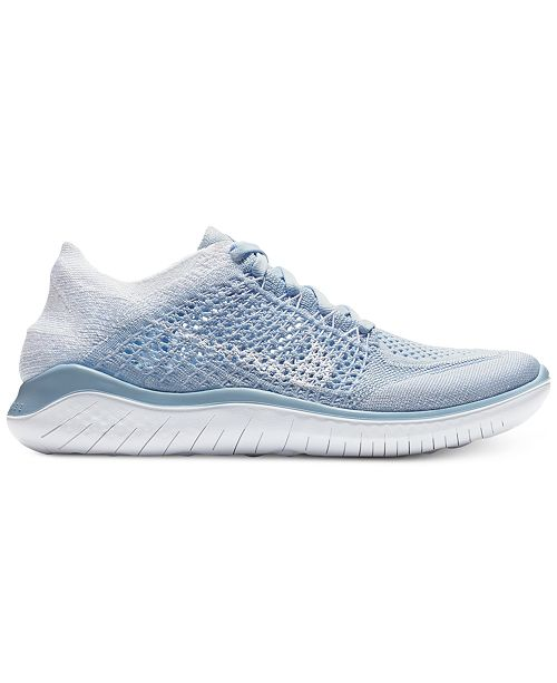 Nike Women S Free Run Flyknit 2018 Running Sneakers From Finish Line Reviews Finish Line Athletic Sneakers Shoes Macy S