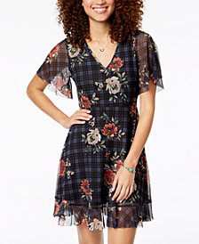 American Rag Juniors' Tie-Back Fit & Flare Dress, Created for Macy's