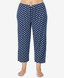 Ellen Tracy Plus Size Printed Pajama Pants