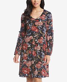 Karen Kane Harper Printed Blouson-Sleeve Dress