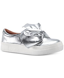 Toddler, Little & Big Girls Isabeth Bow-Trim Sneakers