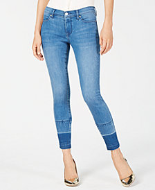 Kendall + Kylie The Ultra Babe Perfect Mid-Rise Released-Hem Jeans