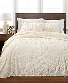 CLOSEOUT! Chenille Medallion Bedspread and Sham Collection, Created for Macy's