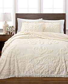 Martha Stewart Collection Chenille Medallion Bedspread and Sham Collection, Created for Macy's
