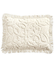 Martha Stewart Collection Chenille Medallion King Sham, Created for Macy's