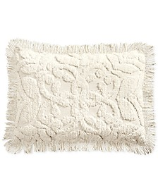 Martha Stewart Collection Chenille Medallion Standard Sham, Created for Macy's