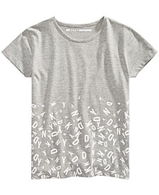 DKNY Big Girls Border-Print T-Shirt