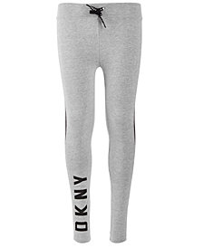 DKNY Big Girls Mixed Media Skinny Jogger Pants