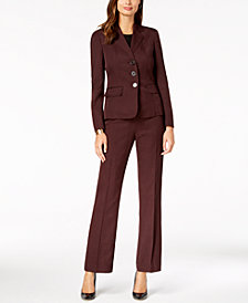 Le Suit Three-Button Pantsuit