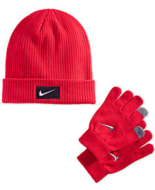 Nike Big Boys 2-Pc. Chrome Swoosh Hat & Gloves Set