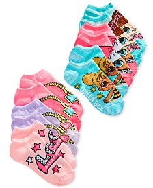 LOL Surprise! Little & Big Girls 6-Pk. No-Show Socks