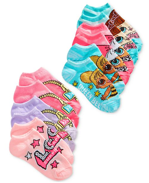 07633543089 Angry Birds LOL Surprise! Little   Big Girls 6-Pk. No-Show Socks ...
