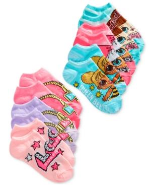 Lol Surprise Little  Big Girls 6Pk NoShow Socks