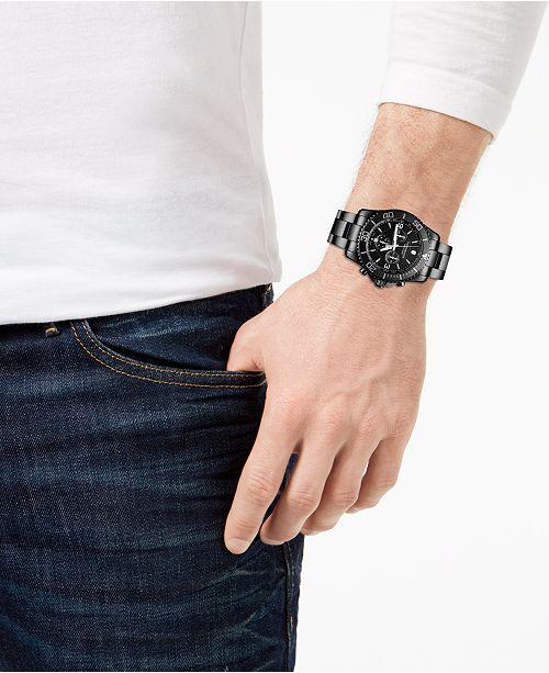 9fec7d0bd10 ... Victorinox Swiss Army Men s Swiss Chronograph Maverick Black Edition  Black PVD Stainless Steel Bracelet Watch ...
