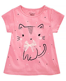 First Impressions Baby Girls Kitty Graphic Cotton T-Shirt, Created for Macy's
