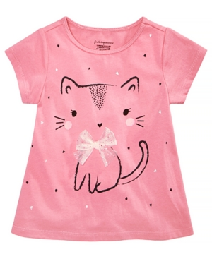 First Impressions Baby Girls Kitty Graphic Cotton TShirt Created for Macys