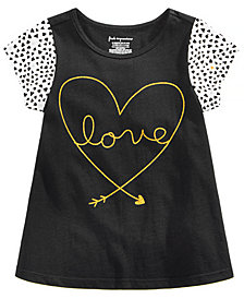 First Impressions Toddler Girls Dotty Love Graphic Cotton T-Shirt, Created for Macy's