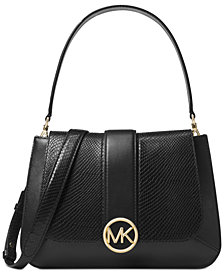 MICHAEL Michael Kors Lillie Python Top-Handle Flap Satchel