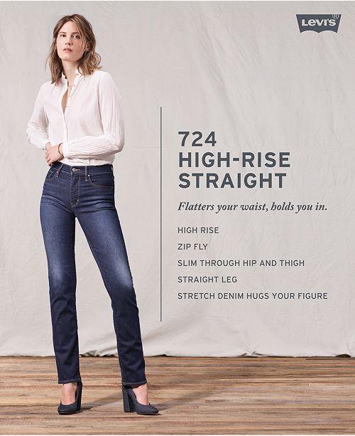 03c8dae0b9c11 Levi s 724 Straight-Leg Cropped Jeans   Reviews - Jeans - Juniors ...