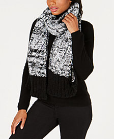 DKNY Two-Tone Chunky Knit Scarf