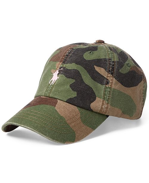 8afd927ae54 ... Baseball Cap  Polo Ralph Lauren Men s Pink Pony Camouflage Cotton  Baseball ...