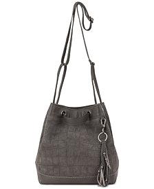 The Sak Castella Drawstring Bucket Leather Crossbody