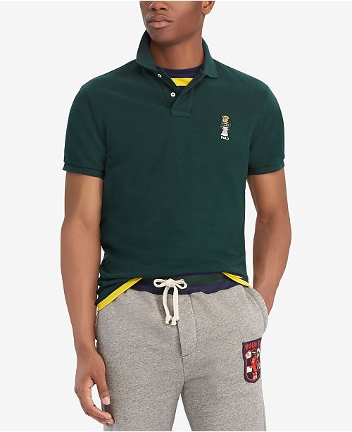 acc69f63d Polo Ralph Lauren Men's Classic Fit Cotton Polo Bear Shirt, Created for  Macy's