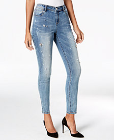 I.N.C. Embellished Skinny Jeans, Created for Macy's