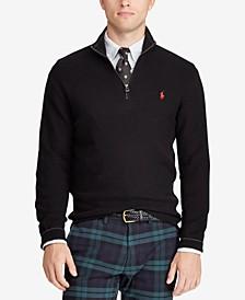 Men's Textured Half-Zip Sweater