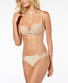 b.tempt'd Wink Worthy Lace-Trim Push-Up Bra & Thong