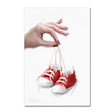 The Macneil Studio 'Baby Red Booties' Canvas Art Collection