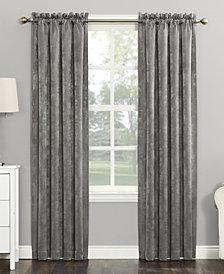 "Sun Zero Cassidy 52"" x 84"" Textured Velvet Blackout Rod Pocket Curtain Panel"