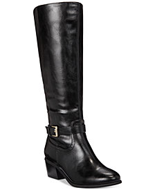 Karen Scott Fayth Wide-Calf Riding Boots, Created for Macy's