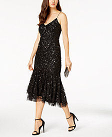 Adrianna Papell Sequin Midi Dress