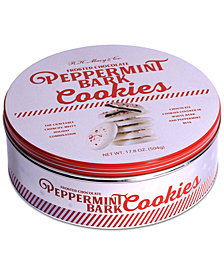 R.H. Macy & Co. Frosted Chocolate Peppermint Bark Cookies Tin, Created for Macy's