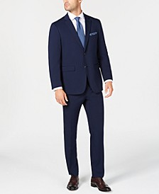 Men's Slim-Fit Comfort Stretch Bright Blue Solid Suit