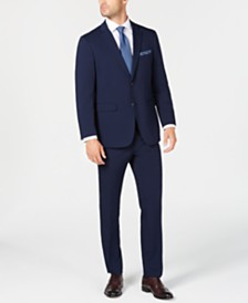 Perry Ellis Men's Slim-Fit Comfort Stretch Bright Blue Solid Suit