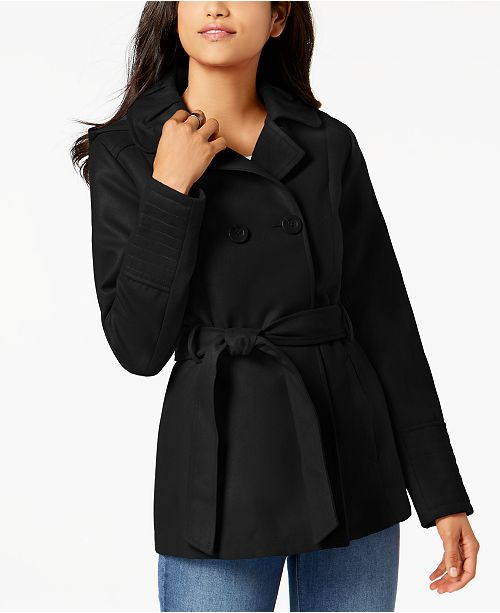 4784bb4b136 Celebrity Pink Juniors  Double-Breasted Peacoat   Reviews - Coats ...
