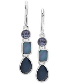 Nine West Triple-Stone Linear Drop Earrings