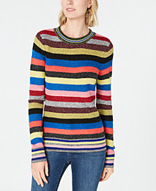 I.N.C. Petite Rainbow Stripe Sweater, Created for Macy's