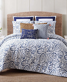 Oceanfront Resort Indienne Paisley King Duvet Set
