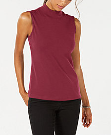 Karen Scott Sleeveless Mock-Neck Top, Created for Macy's