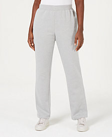 Karen Scott Flat Elastic-Waist Sweatpants, Created for Macy's
