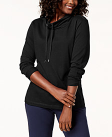 Karen Scott Adjustable Funnelneck Top, Created for Macy's