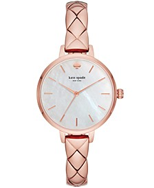 Women's Metro Pink Stainless Steel Bracelet Watch 34mm
