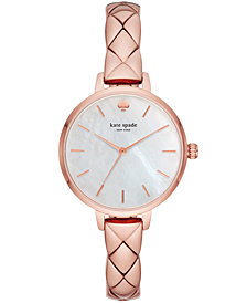 kate spade new york Women's Metro Pink Stainless Steel Bracelet Watch 34mm